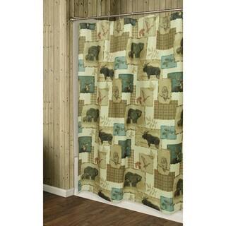 Tetons Shower Curtain by Bacova