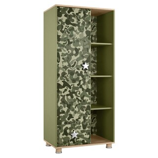 My Youth Mimetico Kids' Green Military Design Wardrobe Armoir