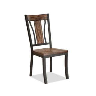 Bernards Hollister Metal and Wood Side Chairs