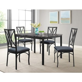 Zeus Casual Metal 5-piece Dining Set