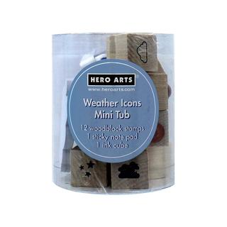 Hero Arts Rubber Stamp Mini Tub Weather Icons