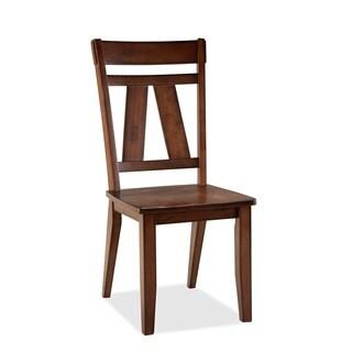 Bernards Winslow Splat Cherry Side Chair (Set of 2)