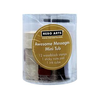 Hero Arts Rubber Stamp Mini Tub Awesome Mess