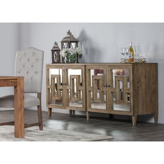Sherbourne Reclaimed Wood Mirrored 85-inch Sideboard by Kosas Home