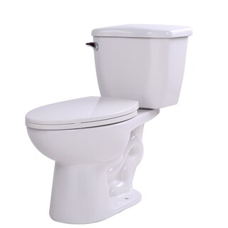 Anzzi Kame White Ceramic 2-piece Single-flush Toilet