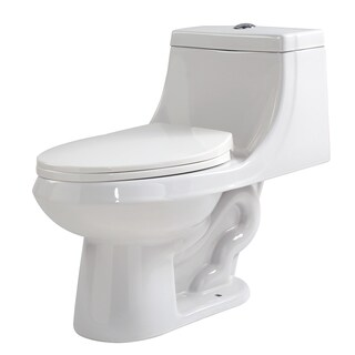 Anzzi Odin White Ceramic Single-piece Dual-flush Toilet