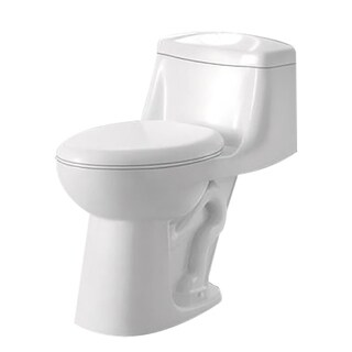 ANZZI Templar White Ceramic Single-piece 1.28 GPF Single Flush Toilet