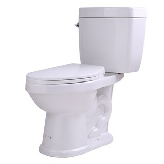 Anzzi Talos White Ceramic 2-piece Single-flush