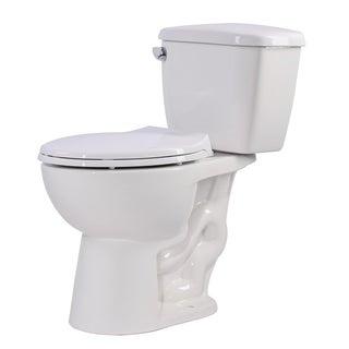 Anzzi Author White Ceramic 2-piece 1.28 GPF Single Flush Elongated Toilet