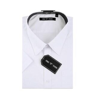 Verno Men's Classic Fit Short Sleeves Dress Shirt (Option: 21)