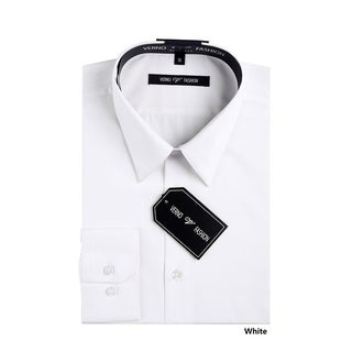Verno Men's Slim Fit Long Sleeves Dress Shirt