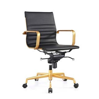 Design Lab MN Decade Black/ Goldtone Adjustable Office Chair (Set of 2)|https://ak1.ostkcdn.com/images/products/16180590/P22554179.jpg?impolicy=medium