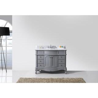 Norhaven 48-inch Round Single Bathroom Vanity Grey Set with No Mirror