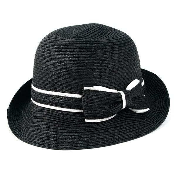 Pop Fashionwear Women's Classic Straw Cloche Bow Hat. Opens flyout.