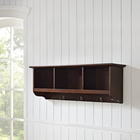Brennan Mahogany Entryway Storage Shelf