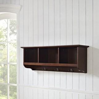 Brennan Mahogany Entryway Storage Shelf