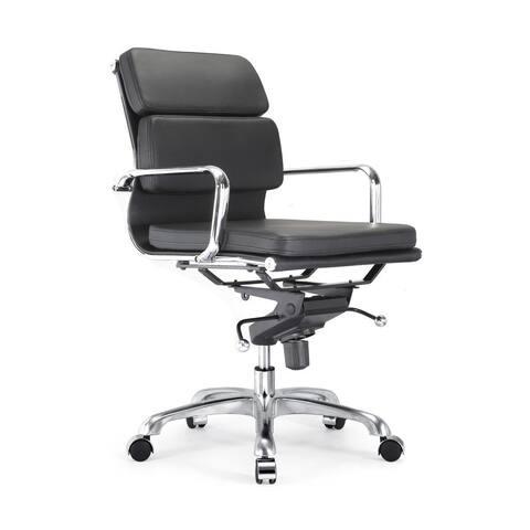 Design Lab MN Century Black/ Silvertone Adjustable Office Chair (Set of 2)