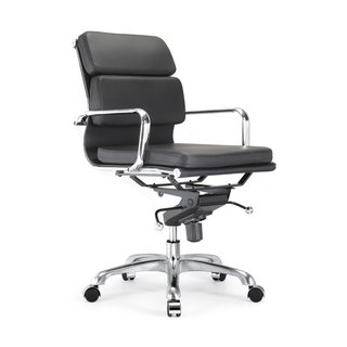 Design Lab MN Century Black/ Silvertone Adjustable Office Chair (Set of 2)