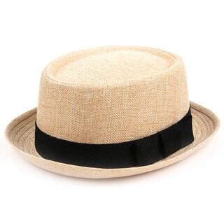 Pop Fashionwear Fashion Porkpie Straw Fedora Hat