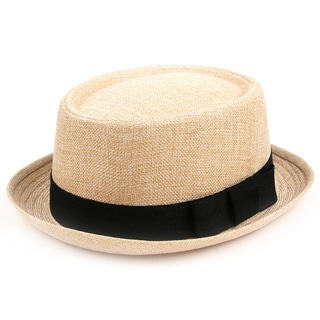 Pop Fashionwear Fashion Porkpie Straw Fedora Hat