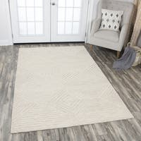 Idyllic Solid Natural Wool Hand-tufted Area Rug - 8' x 10'