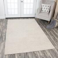 Idyllic Solid Natural Wool Hand-Tufted Area Rug - 9' x 12'