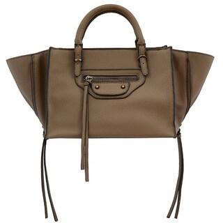 Mellow World Kailyn Small Brown Convertible Satchel/Crossbody Handbag - S