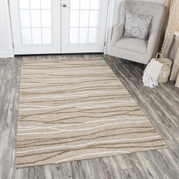 Rizzy Home Idyllic Natural/Brown Wool Area Rug (8' x 10') - 8' x10'