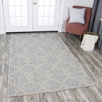 Rizzy Home Opulent Natural/Grey/Beige Wool Hand-tufted Tribal Motif Area Rug - 8' x 10'