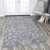 Hand-tufted Opulent Gray Wool Medallion Area Rug (9' x 12') - 9' x 12'