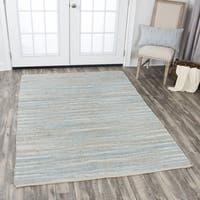 Rizzy Home Wynwood Blue Cotton Handwoven Area Rug - 7' x 10'