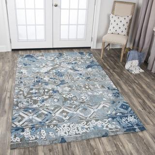 Rizzy Home Zingaro Grey Hand-tufted Wool Distressed Area Rug (9'0 x 12'0)