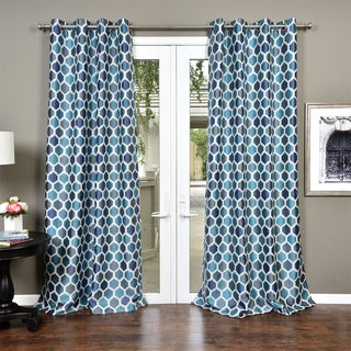 Lambrequin Chic Heavy Faux Silk Jacquard Lined Curtain Panel