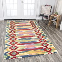 Rizzy Home Zingaro Multicolored Wool Hand-tufted iKat Area Rug - 9' x 12'