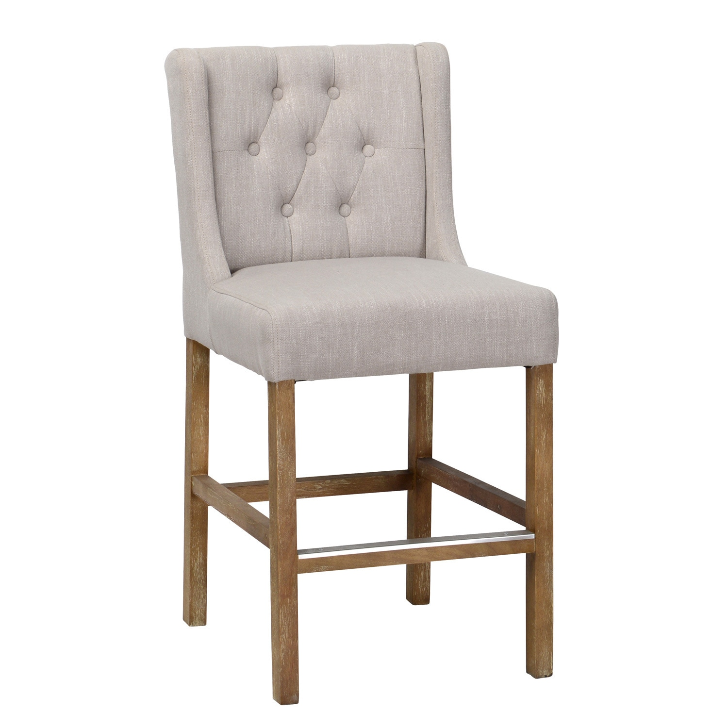 Gracewood Hollow Dostoyevsky Cream Tufted Upholstered 24
