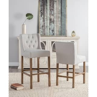 Cayle Cream Tufted Upholstered 30-inch Barstool by Kosas Home https://ak1.ostkcdn.com/images/products/16180795/P22554362.jpg?impolicy=medium