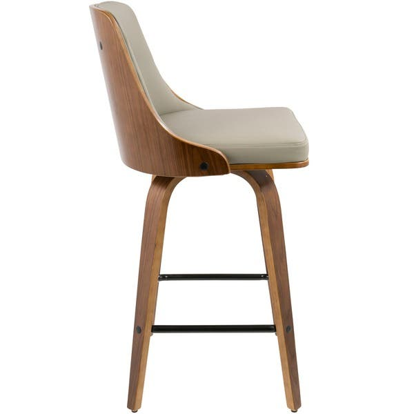 Brilliant Shop Gianna 26 Mid Century Modern Counter Stool In Walnut Lamtechconsult Wood Chair Design Ideas Lamtechconsultcom