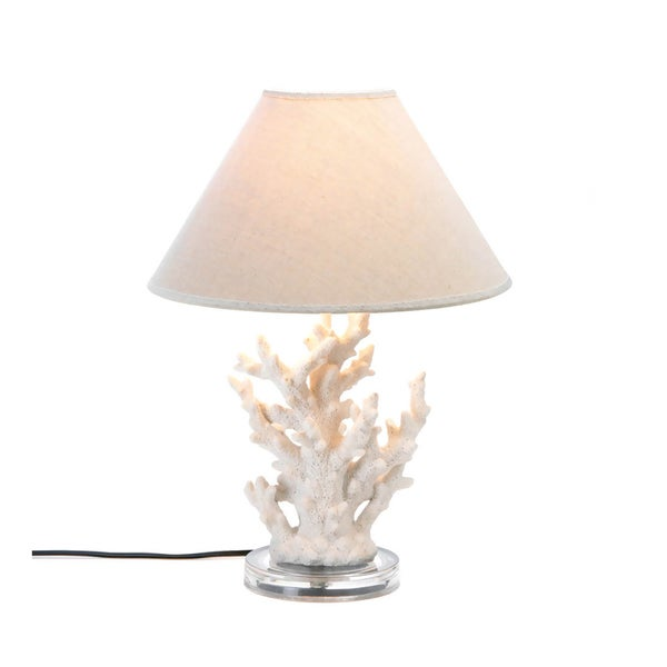 Koehler home decor white coral table lamp free shipping today koehler home decor white coral table lamp aloadofball Images