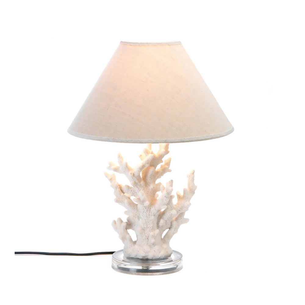 CAS Koehler Home Decor White Coral Table Lamp (Table Lamp...
