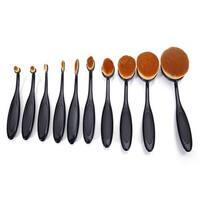 Nylon 10-piece Makeup Brush Set