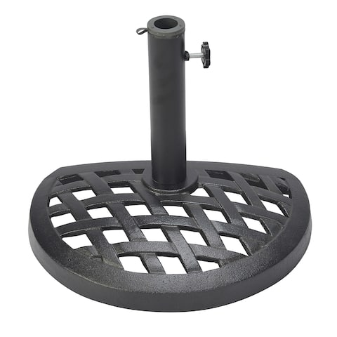 Cast Iron Half Umbrella Base - 17.7 Inch Diameter by Trademark Innovations