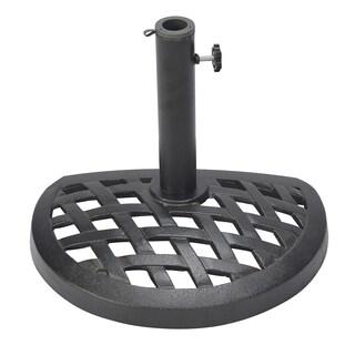Cast Iron Half Umbrella Base - 17.7 Inch Diameter by Trademark Innovations
