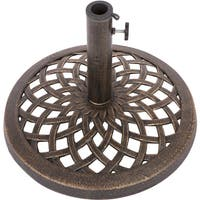 Cast Iron Umbrella Base - 17.7 Inch Diameter by Trademark Innovations (Bronze)
