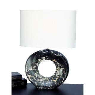 Urban Designs Abstract Oval Ceramic 21-inch Table Lamp (Set of 2)