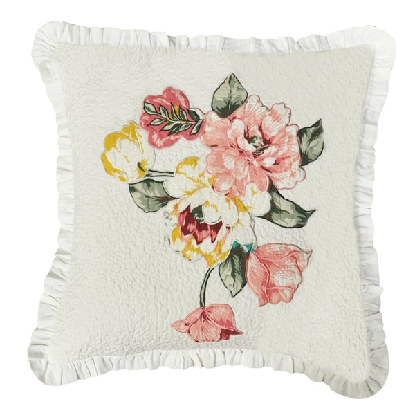 Annie Quilted Decorative Throw Pillow