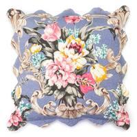 Annie Cornflower Blue Quilted Decorative Throw Pillow