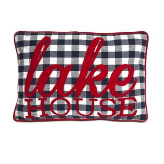 Huggable Lake House Throw Pillow