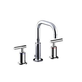 Y Decor Luxurious Double Handle Basin Faucet in Brushed Nickel Finish