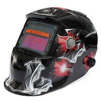 Auto Color Changing Solar Power Welding Helmet Shield 1639A Black