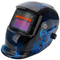 Solar Powered Auto Darkening Welding Helmet Blue & Black